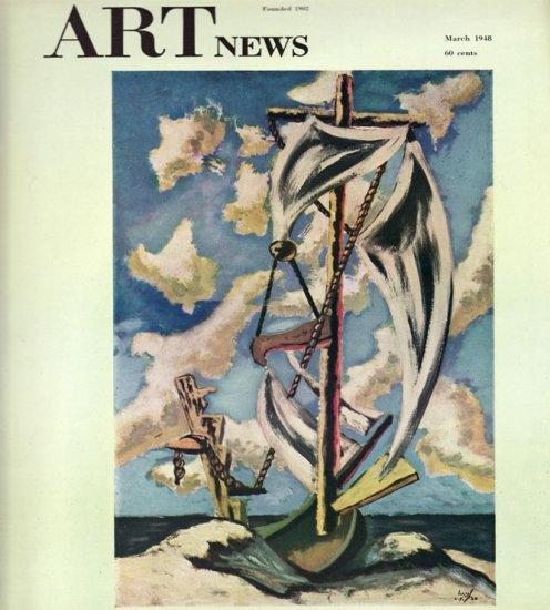 ARTnews Magazine March 1948 Art Illustrations Articles Magazine Back Issue