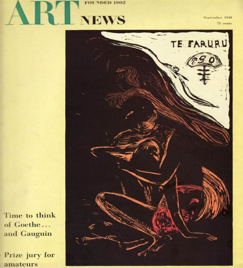 ARTnews Magazine Septmeber 1949 Art Illustrations Articles Magazine Back Issue