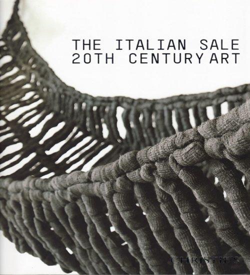 Christie's Italian Sale 20th Century Art London Auction Catalog 2008 Post War and Contemporary Art