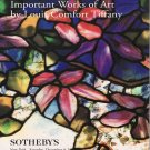Sotheby's Important Works of Art by Louis Comfort Tiffany Lamps Enamels Auction Catalog 1999
