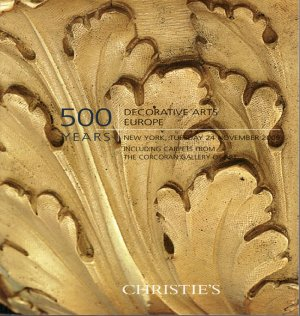 Christie's 500 Years Fine and Decorative Arts Catalog Europe Carpets November 2009