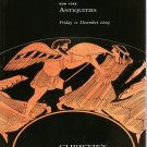 Christie's Antiquities  December 2009 New York  Greek Roman Egyptian Art  Auction Catalog