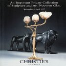 Christie's Important Private Collection of Sculpture and Art Nouveau Glass Auction Catalog 1997