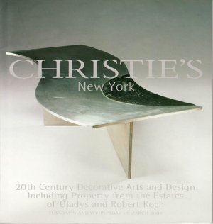 Christie's 20th Century Decorative Arts and Design Property from Koch Estate Auction Catalog 2004
