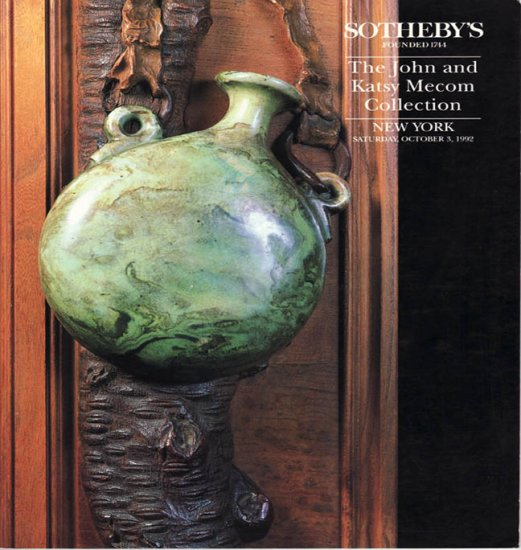 Sotheby's The John and Mecom Collection including Tiffany Glass 1992 Auction Catalog