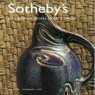 Sotheby's 20th Century Works of Art and Tiffany Ruhlmann Furniture 2001 Art Auction Catalog