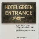 Christie's Post-War and Contemporary Art Including Dennis Hopper Collection Auction Catalog 2010