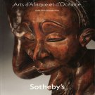 Sotheby's Oceanic and African Arts Auction Catalog Paris November 2010 In French