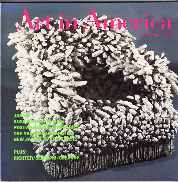 ART IN AMERICA April 1990 Japanese Architects Kusama Postwar Contemporaries Magazine Back Issue