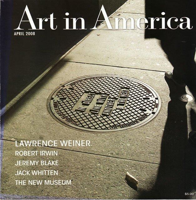 ART IN AMERICA  Lawrence Weiner Robert Irwin Jeremy Blake Magazine Back Issue April 2008