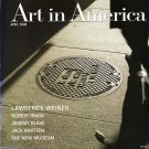 ART IN AMERICA  Lawrence Weiner Robert Irwin Jeremy Blake Magazine Back Issue April 2008