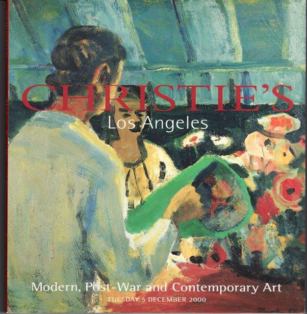 Christies Modern, Post-War and Contemporary Art  Auction Catalog Hirst  Calder December 2000
