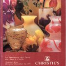 Christies Art Nouveau Art Deco and Arts & Crafts Auction Catalog December 1991