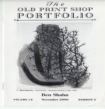 The Old Print Shop Portfolio Ben Shahn Volume LX Number 3 Softcover November  2000
