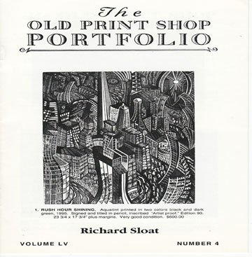 The Old Print Shop Portfolio Volume LV Number 4 Richard Sloat Printmaker Catalog Softcover
