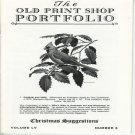 The Old Print Shop Portfolio Volume LV Number 5 Christmas Suggestions Printmaker Catalog Softcover