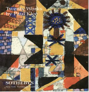 Sotheby's Twenty Works by Paul Klee Paintings and Drawings Auction Catalog Softcover November 1998