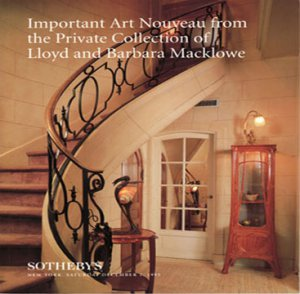 Sotheby's Important Art Nouveau Private Collection of  Lloyd Macklowe Auction Catalog 1995