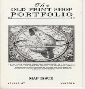 The Old Print Shop Portfolio Volume LIV Number 6 Maps Issue Catalog Softcover