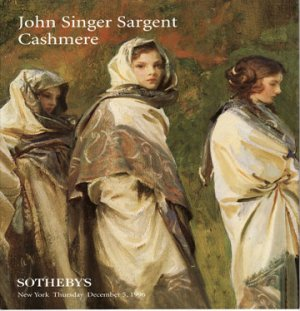 Sotheby&#039;s John Singer Sargent Cashmere  Alpine Studies Painting Auction Catalog December 1996