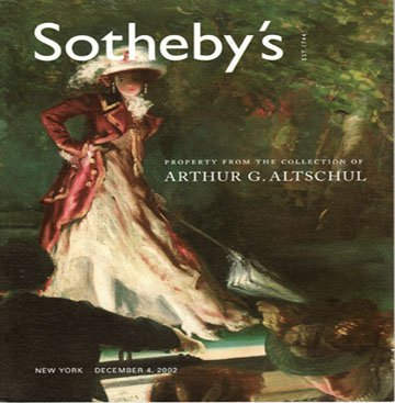 Sotheby's Property From the Collection of Arthur G. Altschul Auction Catalog 2002