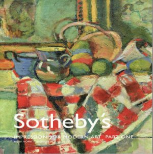 Sotheby's Impressionist & Modern Art Part One Matisse Miro Picasso Auction Catalog 2002