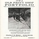 The Old Print Shop Portfolio Volume LIV Number 7 Charles F.W. Mielatz Anton Schutz Catalog Softcover