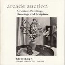 Sotheby&#39;s Arcade Auction Catalog American Paintings, Drawings and Sculpture March 25, 1997