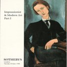 Sotheby&#39;s Impressionist & Modern Art Part I Miro Munch Monet Gauguin  London Catalog 1998