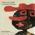 Sotheby's 19th & 20th Century Prints Dubuffet Miro Chagall Munch Auction Catalog November 1996