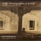 Sotheby's Early Photographs of India The Archive of Dr. John Murray Auction Catalog June 1999