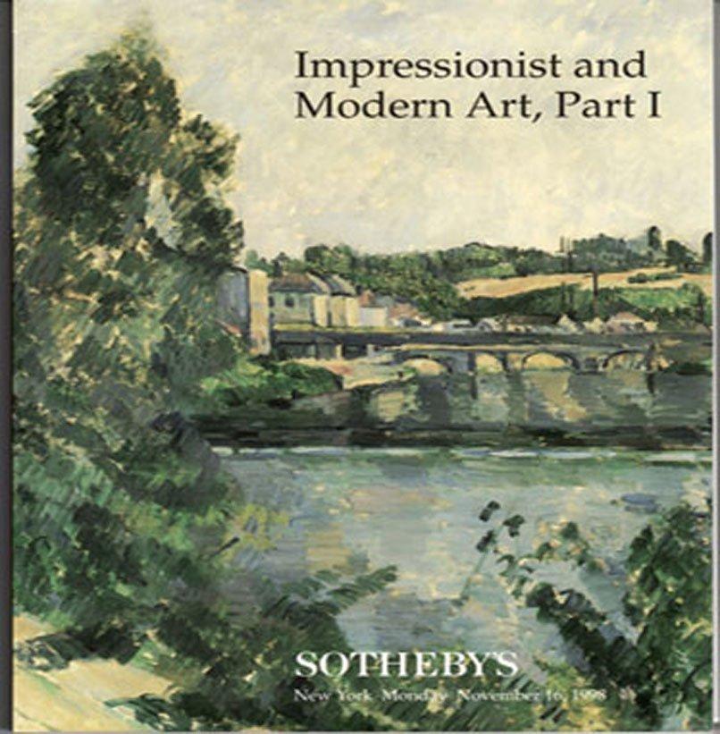 Sotheby's Impressionist & Modern Art Part I Matisse Caillebotte Renoir New York Catalog 1998