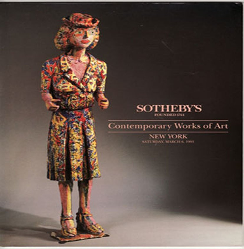 Sotheby's Contemporary Works of Art Auction Catalog Property from Private Estates March 1993