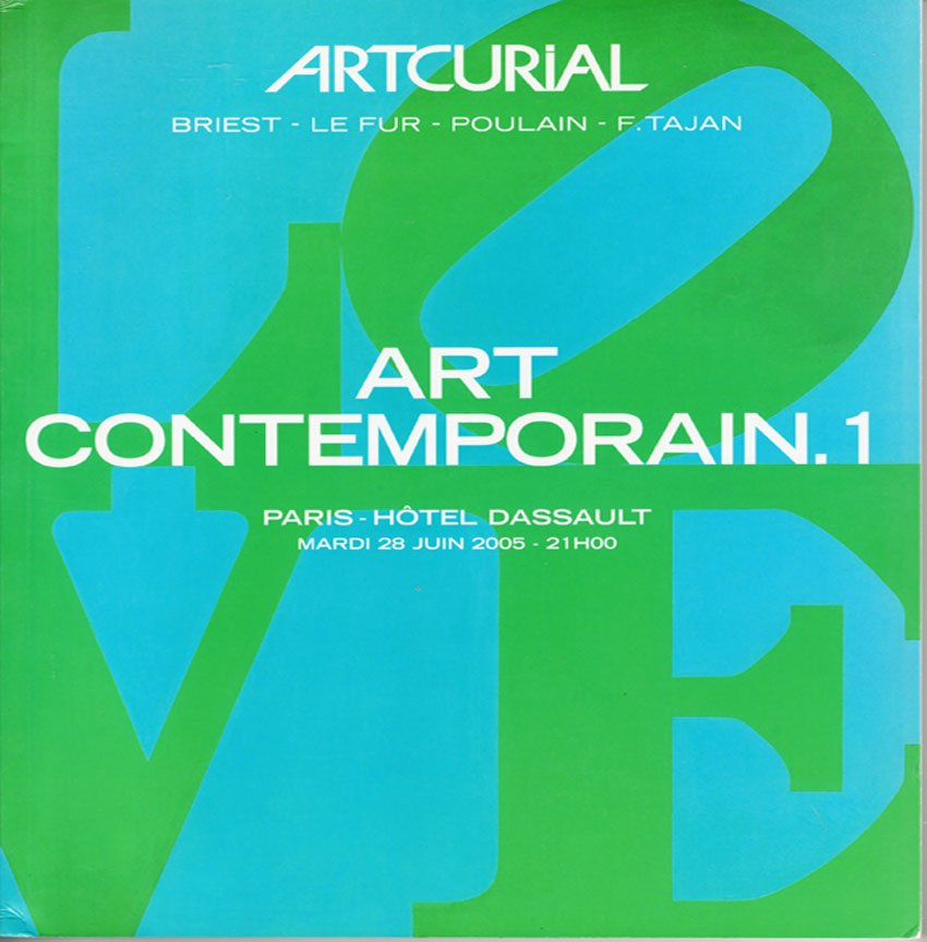 Artcurial  Contemporary Art Auction Catalog Contemporain.1  Richter, Basquiat, Arman Softcover 2005