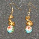 Handcrafted cloisenne beaded earrings