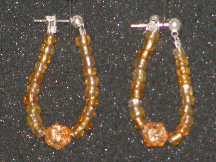 Handcrafted beaded earrings