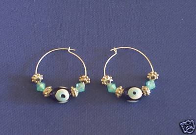 EVIL EYE EARRINGS HANDPAINTED MADE IN GREECE