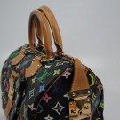 AUTHENTIC Pre Owned Louis Vuitton BLACK Multi Color SPEEDY 30