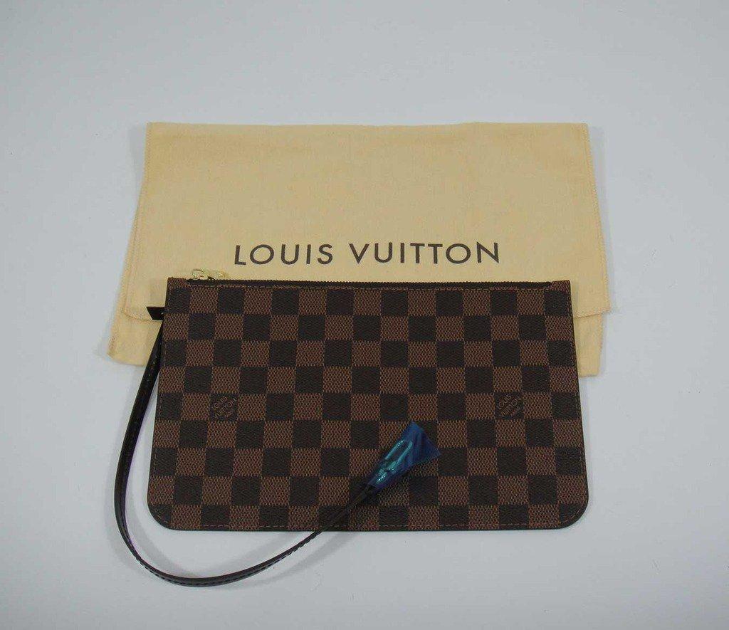 AUTHENTIC Louis Vuitton Damier Ebene Neverfull MM/GM pochette pouch