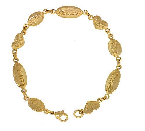 Gold 8 in. Kindness Bracelet