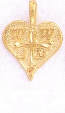 24K Gold WHAT WOULD JESUS DO charm