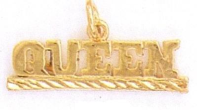 24K Gold QUEEN Charm