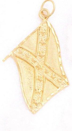 24K Gold Flag Charm