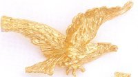 24K Gold Eagle Necklace Charm