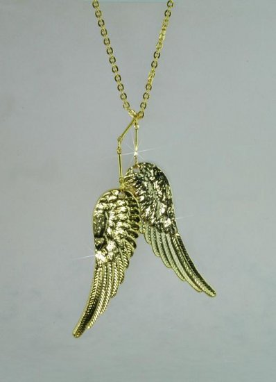 Silver Angel Wings w/Necklace (gold wings shown)