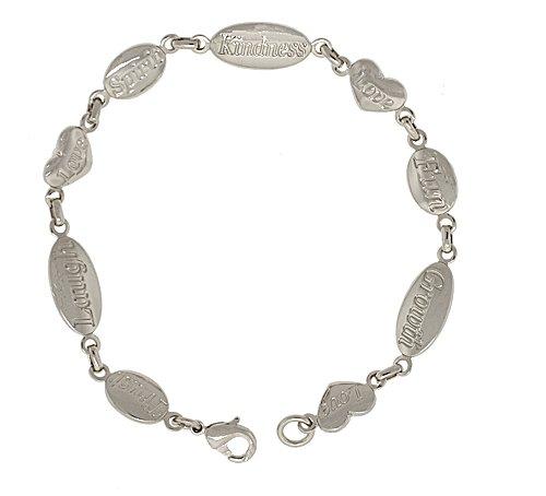 8in. 'Sterling Silver' Kindness Bracelet