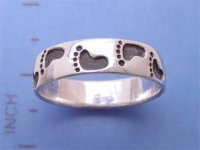 'Footprint' .925 Silver Ring