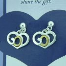 Ladies 18K Gold GOD Earrings