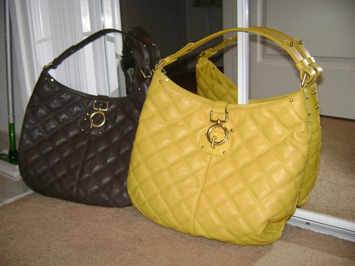 NWT - Tumbled-leather Quincy Hobo - Golden Yello