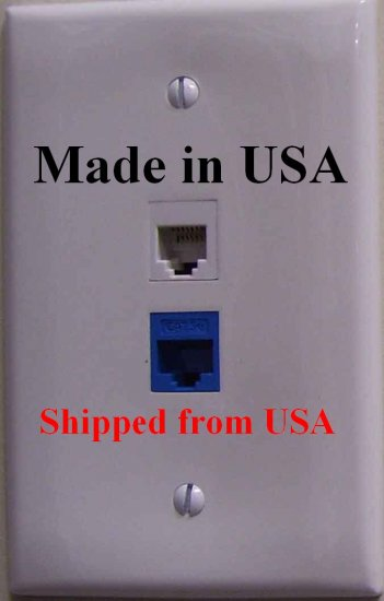 SecureGuard AC Powered Telephone / Ethernet Jack Nanny Cam Spy Camera *FAST SHIPPING*